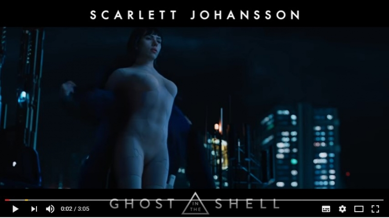 Bande Annonce GHOST IN THE SHELL (Scarlett Johansson, 2017)