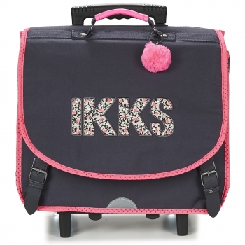 Ikks ROCK CARTABLE TROLLEY 41CM Noir / Rose - Spartoo