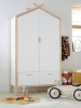 Armoire cabane ROBINSON blanc mate