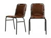 STINGRAY 2 chaises vintage Marron