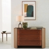 Commode Firmo noyer/cuir