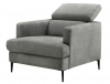 Fauteuil HASTING tissu gris