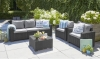 Salon de jardin CALIFORNIA ALLIBERT 5 places Gris