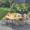 Table de jardin hexagonale Kajlaw acacia FSC